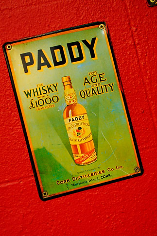 image 4-900-1630 Ireland, Dublin, Paddy whiskey sign