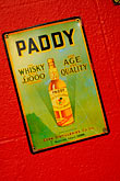 refreshment stock photography | Ireland, Dublin, Paddy whiskey sign, image id 4-900-1630