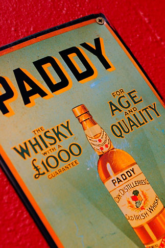 image 4-900-1636 Ireland, Dublin, Paddy whiskey sign