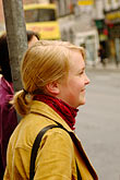 golden haired stock photography | Ireland, Dublin, Woman in crowd, image id 4-900-1669