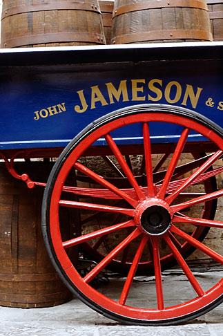 image 4-900-1737 Ireland, Dublin, Old Jameson Distillery, cart