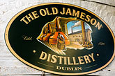 signage stock photography | Ireland, Dublin, Old Jameson Distillery, image id 4-900-1803
