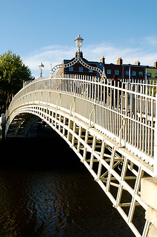 image 4-900-1946 Ireland, Dublin, Hapenny Bridge over the River Liffey