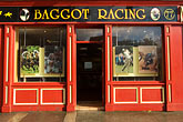 facade stock photography | Ireland, Dublin, Baggot Racing Shop, image id 4-900-3