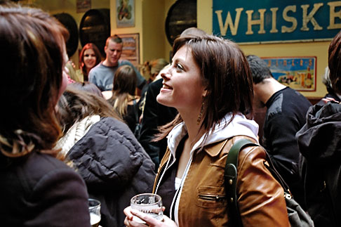 image 4-900-36 Ireland, Dublin, Woman at Pub