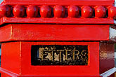 red stock photography | Ireland, County Antrim, Postbox, image id 4-900-382