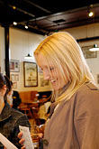 blonde stock photography | Ireland, County Antrim, Bushmills Distillery,Tasting room, image id 4-900-415