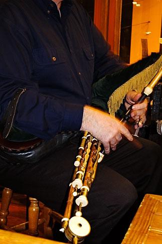 image 4-900-45 Ireland, Dublin, Irish Bagpipe, Uilleann pipe