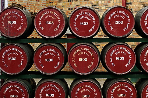 image 4-900-473 Ireland, County Antrim, Bushmills Distillery, barrels