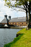 tree stock photography | Ireland, County Antrim, Bushmills Distillery, image id 4-900-517