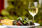 horizontal stock photography | Food, Donegal mussels and White Wine, image id 4-900-546
