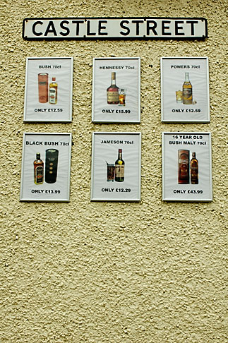 image 4-900-737 Ireland, Fermanagh, Whiskey Signs
