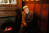 man smoking stock photography | Ireland, Fermanagh, Irvinestown, Central Bar, image id 4-900-798