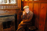 man smoking stock photography | Ireland, Fermanagh, Irvinestown, Central Bar, image id 4-900-812