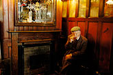 man smoking stock photography | Ireland, Fermanagh, Irvinestown, Central Bar, image id 4-900-816