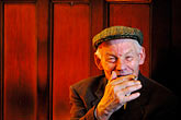 man smoking stock photography | Ireland, Fermanagh, Irvinestown, Central Bar, image id 4-900-840