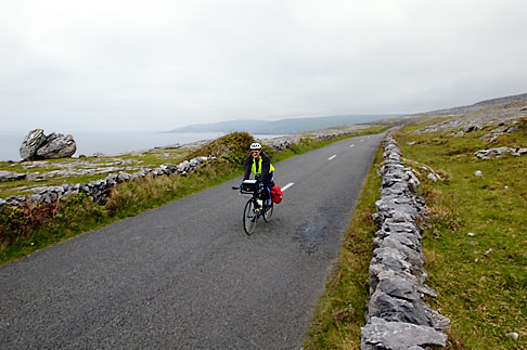 image 4-900-960 Ireland, County Clare, Bicycling near Black Head in the Burren