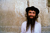 hat stock photography | Israel, Jerusalem, Jewish man, Western Wall, image id 9-340-83