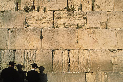 image 9-340-88 Israel, Jerusalem, Men praying, Western Wall