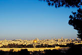 town stock photography | Israel, Jerusalem, El Aqsa Mosque and city walls at dawn, image id 9-340-92