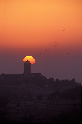 image 9-340-94 Israel, Jerusalem, Sunrise over Mount of Olives