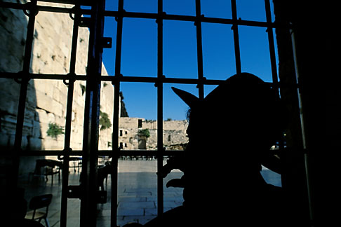 image 9-350-13 Israel, Jerusalem, Looking out on the Western Wall