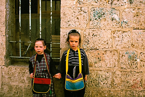 image 9-350-6 Israel, Jerusalem, Children of Mea Shaarim