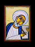 icon of joshua by livanus setatou stock photography | Israel, Jerusalem, Icon of Joshua by Livanus Setatou, image id 9-360-17