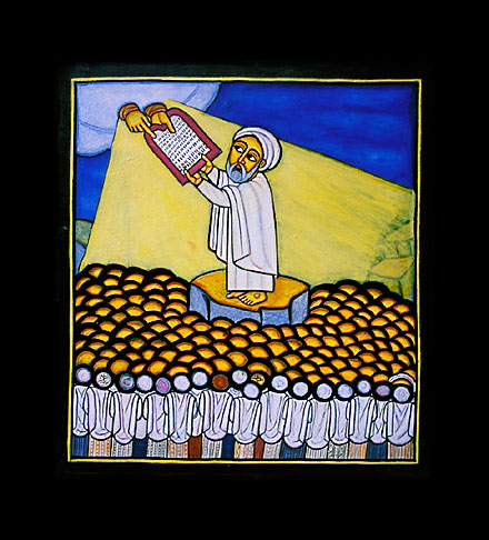 image 9-360-18 Icon of Moses by Livanus Setatou