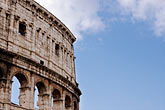 blue sky stock photography | Italy, Rome, Colosseum, image id S4-500-3467