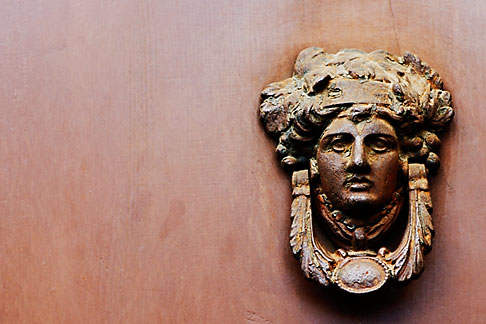 image S4-500-3811 Italy, Rome, Door Knocker