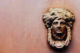 decorated door stock photography | Italy, Rome, Door Knocker, image id S4-500-3811