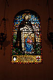 color stock photography | Italy, Rome, Stained Glass Window, Santa Maria Sopra Minerva, image id S4-500-3846