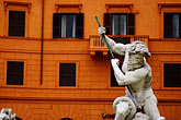 horizontal stock photography | Italy, Rome, Detail, Fontana del Moro by Bernini, Piazza Navona, image id S4-500-4032