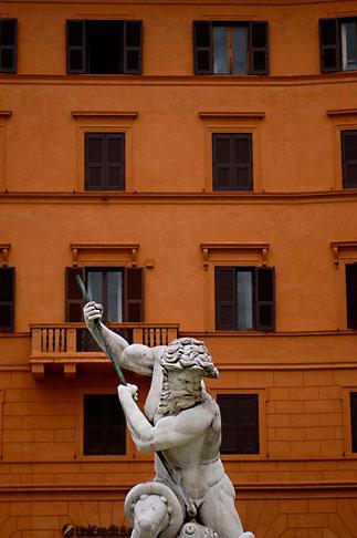 image S4-500-4033 Italy, Rome, Detail, Fontana del Moro by Bernini, Piazza Navona
