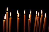 illuminated stock photography | Italy, Rome, Candles, Santa Prassede, image id S4-501-4121