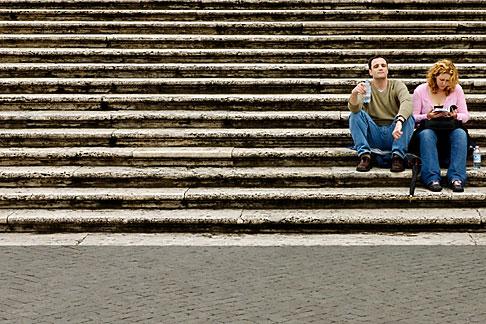 image S4-501-4384 Italy, Rome, Spanish Steps or Scalinata di Trinita dei Monti
