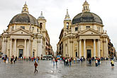 multitude stock photography | Italy, Rome, Piazza Del Popolo, image id S4-501-4651