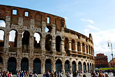 blue sky stock photography | Italy, Rome, Colosseum, image id S4-502-4724