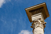 blue sky stock photography | Italy, Rome, Column, Forum, image id S4-502-4831