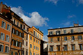 blue sky stock photography | Italy, Rome, Buildings in Trastevere, image id S4-502-5076
