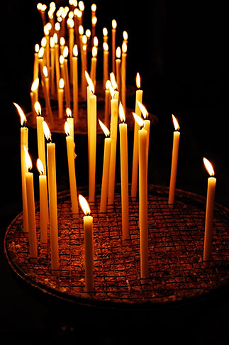 image S4-502-5116 Italy, Rome, Candles