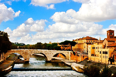 image S4-502-989 Italy, Rome, Bridge over the Tiber