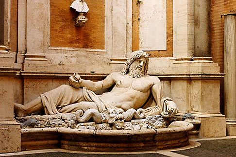 image S4-503-5518 Italy, Rome, Statue of Marforio, Capitoline Museums