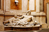 horizontal stock photography | Italy, Rome, Statue of Marforio, Capitoline Museums, image id S4-503-5518