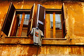 reside stock photography | Italy, Rome, Windows and laundry, image id S4-503-5583