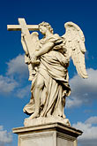 winged angel stock photography | Italy, Rome, Ponte Sant