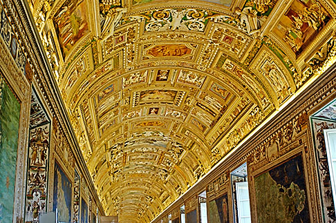 image S4-504-5877 Vatican City, Painted Cieling, Vatican Museum