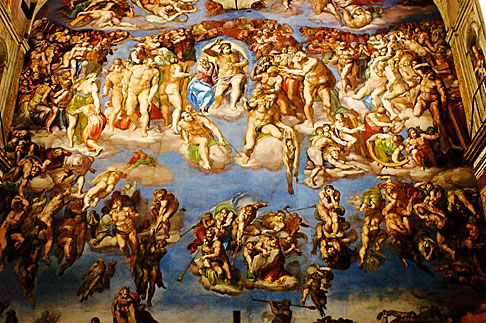 image S4-504-5904 Vatican City, Sistine Chapel , Last Judgement by Michelangelo