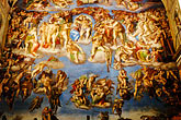 michelangelo buonarroti stock photography | Vatican City, Sistine Chapel , Last Judgement by Michelangelo, image id S4-504-5904